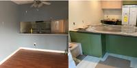 kitchen progress plaidfox green kitchen