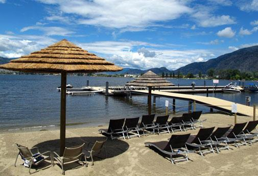 A true Mexico-like experience in Osoyoos at the Walnut Beach Resort private beach