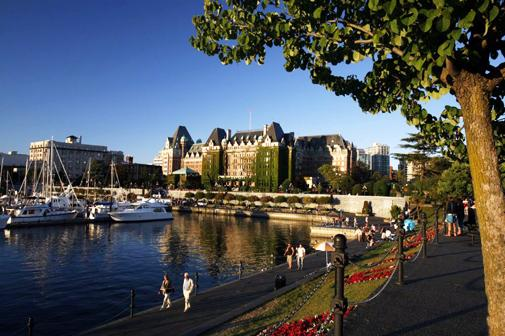 After high tea, take a walk along Victoria's inner harbour