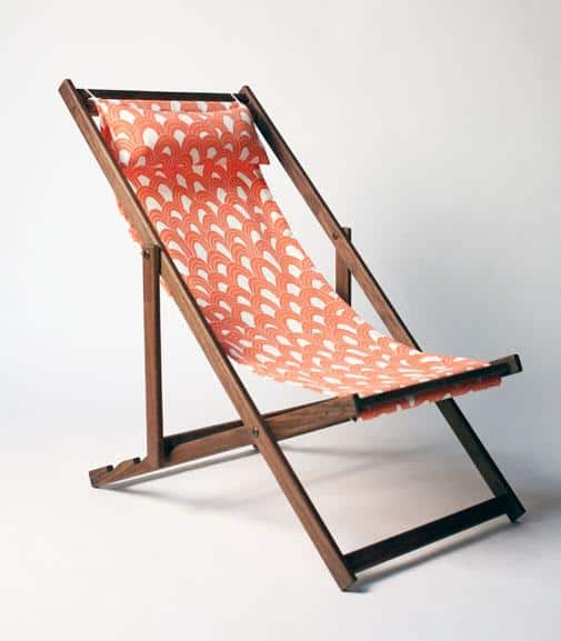 Gallant & Jones's  handmade teak deck chair invites you to lounge in West Coast style