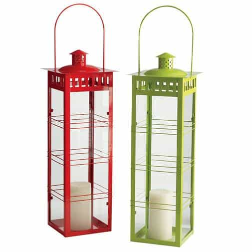Add some ambience to your garden party with these metal lanterns from Pier 1