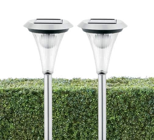 Brighten pathways with these fluted solar poles from PC Home