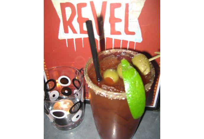 Revel's cherry tomato and jalapeno Caligula makes our list of top 5 Caesars in the city