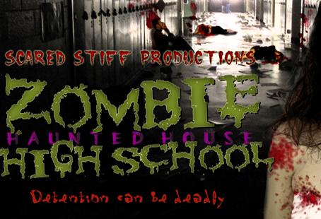 Zombie High School Haunted House – October 26, 27, 28, and 31,  2012