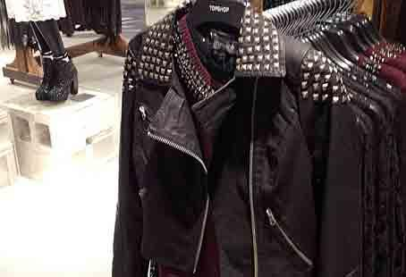 Leather motorcycle jacket – Mary Homer's key wardrobe pick for this season. Available with or without studs