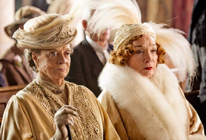 Maggie Smith and Shirley MacLaine Downton Abbey