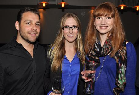 Absolut brand ambassador Jacob Sweetapple, publicist Genevieve Taylor and writer Sandra O'Connell pose for a pic