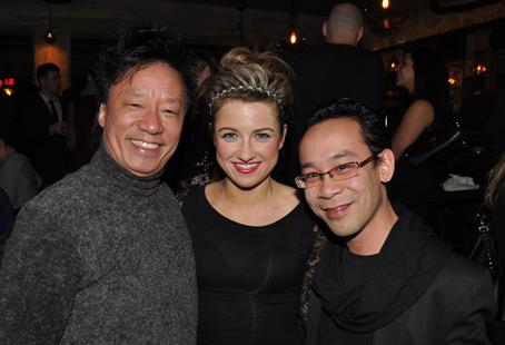 FMA Entertainment producer Andy Chu, FMA host Natalie Langston and Kambolis Restaurant Group's Curtis Wong