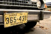 Keep an Eye out for Maine License Plates!