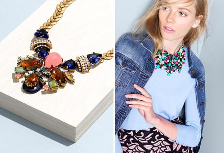 Necklaces are getting bigger and bolder, making a statement all their own. Here are some of our favourites