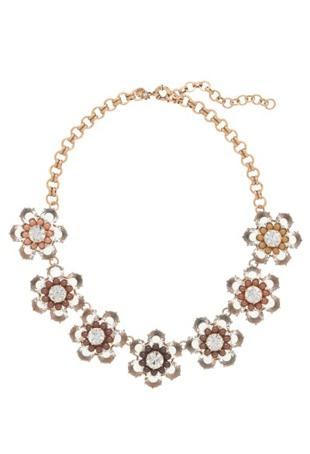 Crystal Flower Necklace, J. Crew, $202
