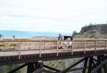 Myra Canyon with Monashee Adventures