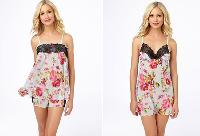 Floral Knit Chiffon Cami Set and Slip