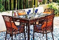 What's hot in outdoor decor this summer? Take the indoors out