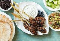 Quick Blueberry Lamb Kebabs