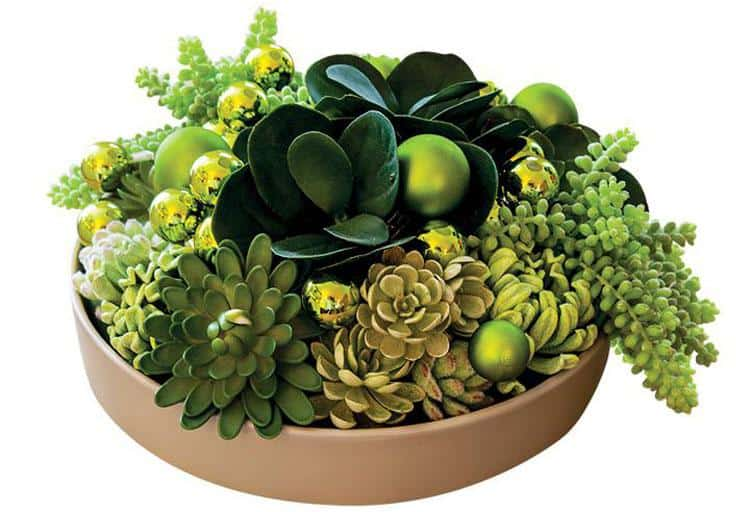 Create some theatre with interior designer Tamara Wouters' succulent showpiece that looks fresh, but is actually made with high-quality faux-plant picks