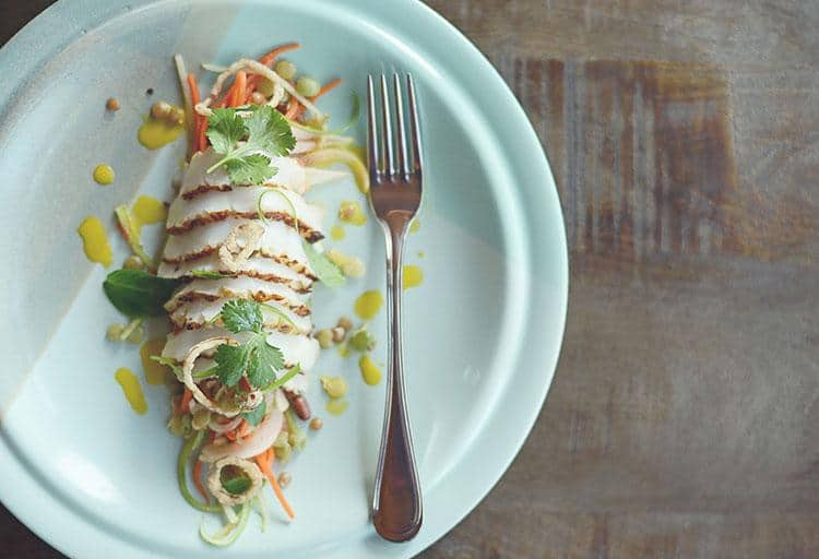 Charred Humboldt Squid with Vietnamese Slaw by Nick Nutting, Wolf in the Fog