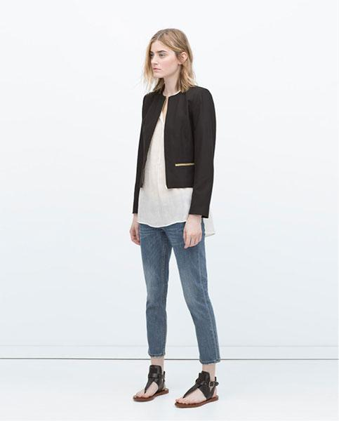 The Collarless Crop Blazer