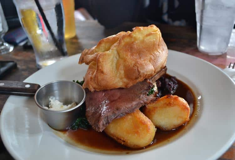 The Duke of Cambridge Sunday Roast, 20 St. Peter's Street