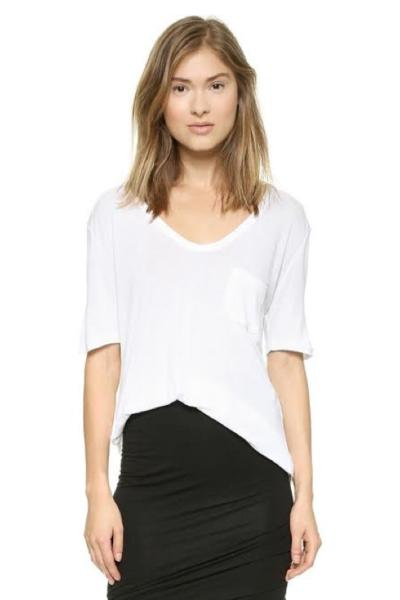 Alexander Wang Classic T-Shirt with Pocket, $80 USD
