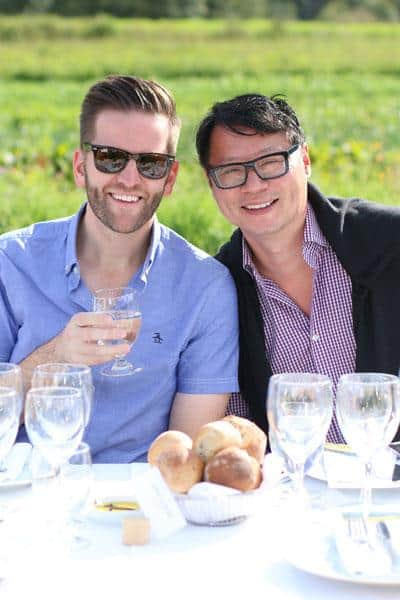 Fred Lee (right), CBC, The Province, with husband Josh McVeity