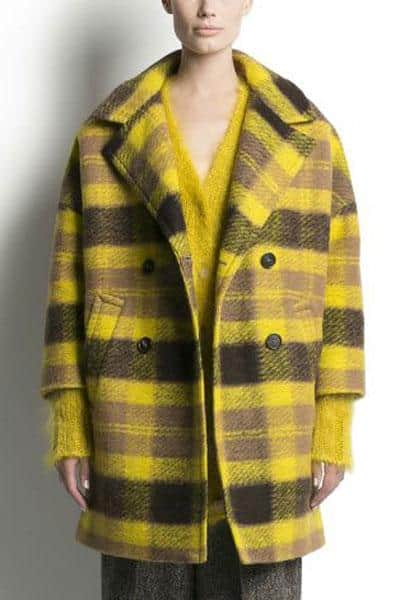 Pink Tartan, Oversized Plaid Coat, $895
