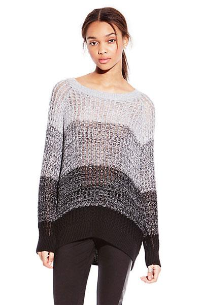 Two by Vince Camuto Grey Ombre Shaker Stitch Sweater, $41