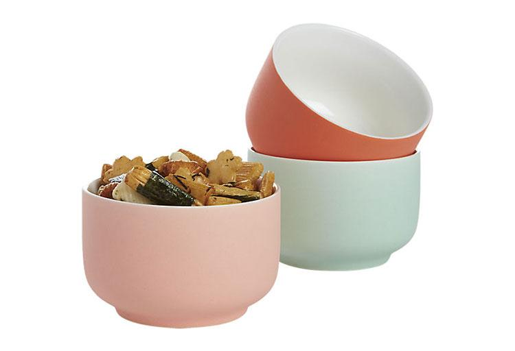 Roundish mini bowl in pink, $3.95