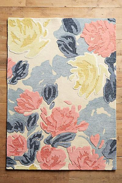 Rose relief rug, from $98