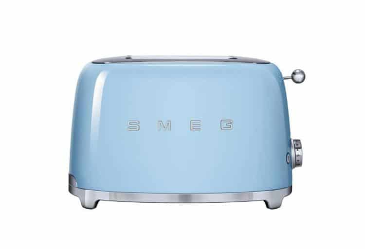 Smeg two-slice toaster in pastel blue, $150