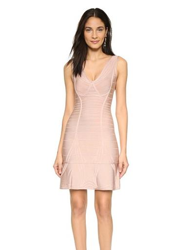 Herve Leger Nadja Bandage Dress, $1,970