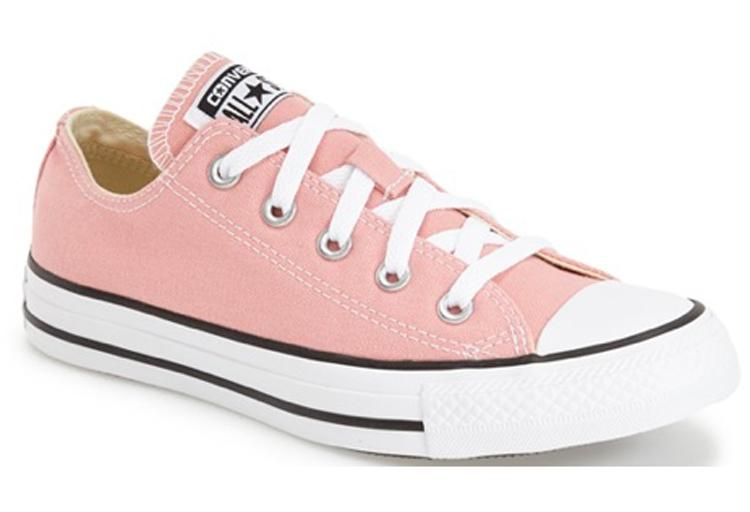 Chuck Taylor All Star 'Ox' Low-Top Sneaker in Daybreak Pink, $80