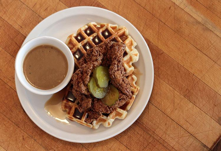 Chicken and Waffles – Save on Meats, 43 West Hastings Street