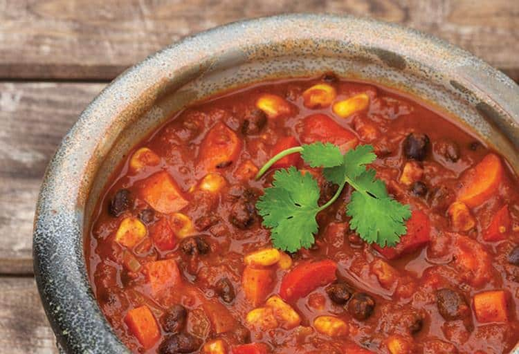 Chipotle Black Bean Chili by Teresa Makarewicz, Professional Home Economist