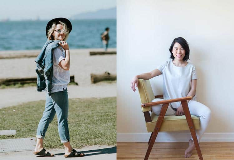 Meet Chloe Popove, My Modern Closet founder (left) and Elim Chu, stylist and brand consultant