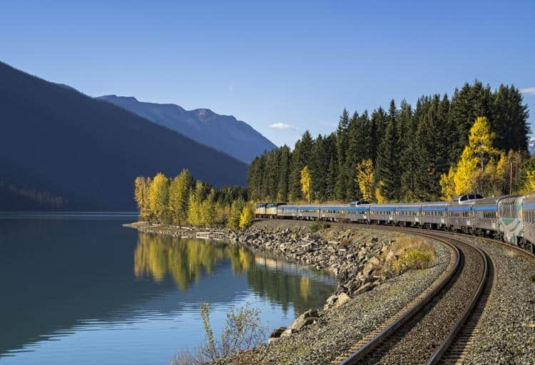 Travel through the scenic route of the gorgeous Rocky Mountains for a weekend escape from Vancouver to Edmonton via train