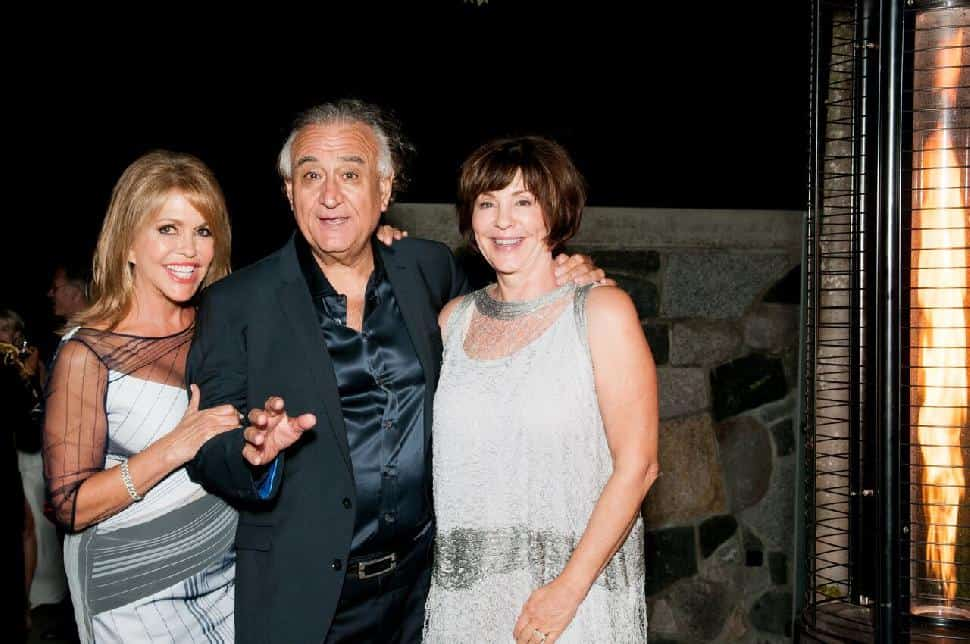 Marianne and Umberto Menghi celebrating with Jacqui Cohen