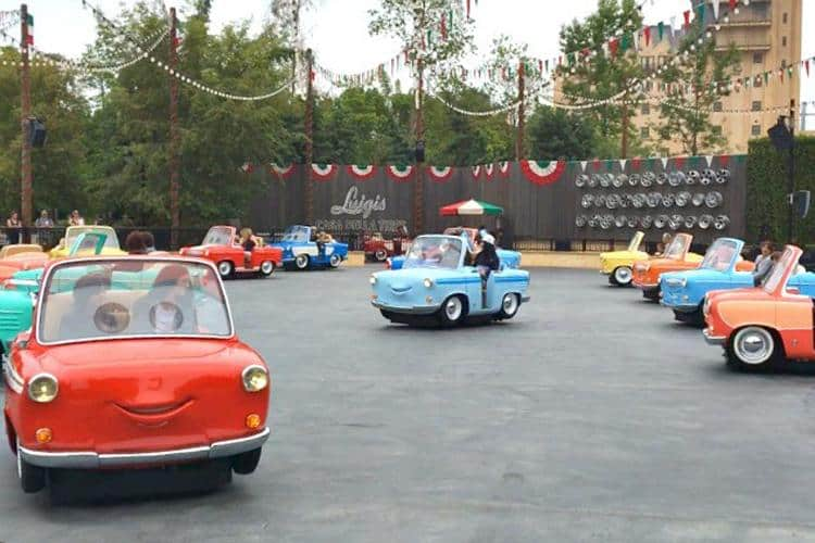 Test drive the brand new addition to Cars Land: Luigi's Rollickin' Roadsters
