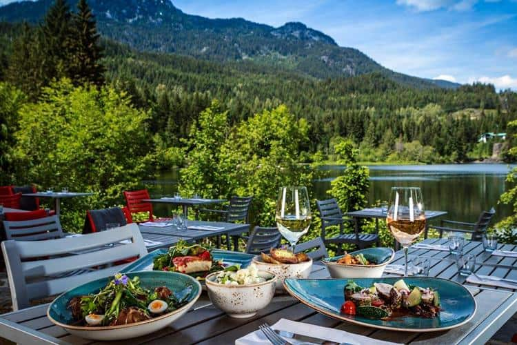With great food, drinks and spectacular views, these sunny patios in Whistler offer nothing but good times