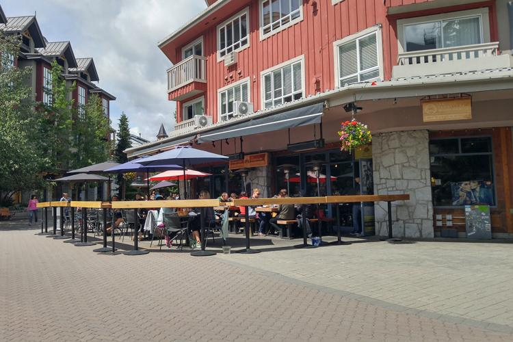 Top 6 patios in whistler bcliving for L furniture warehouse whistler