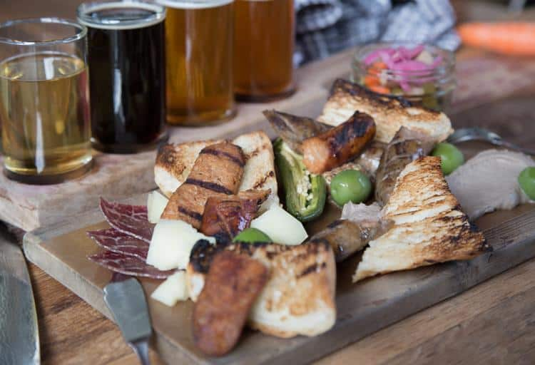 Grilled Postmark Sausage Board from The Belgard Kitchen, 55 Dunlevy Avenue