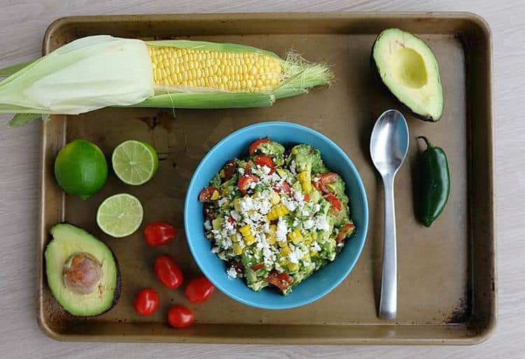 Festive Sweet Corn Guacamole by Crystal Allen, Culinary Nutrition Expert and Creative Director, Hello Creative Family