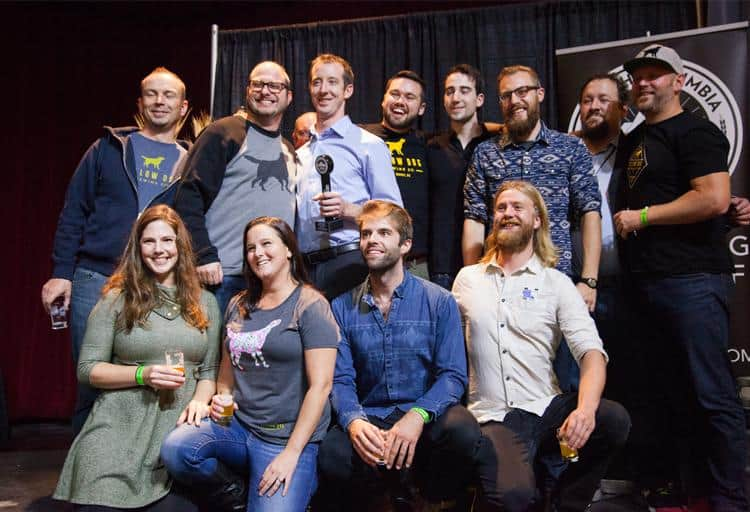 The team from Yellow Dog Brewing won first place for Chase My Tail Pale Ale and second for Play Dead IPA