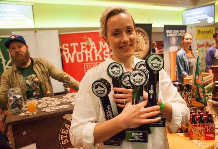 Julia Hanlon of Steamworks Brewing Company: this is the third time Steamworks has won Best in Show and Hanlon is the first female brewer to win