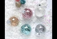 Glitter-filled Ornaments by LWmakes