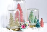Glitter Tree Snow Globes by LWmakes
