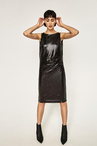 Zara Tube Dress with Sequins, $69.90