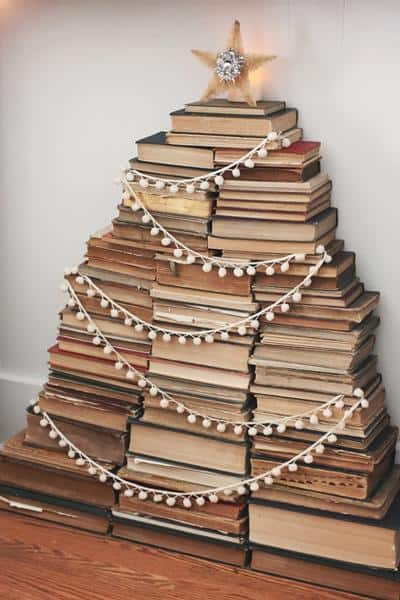 Vintage Books Christmas Tree