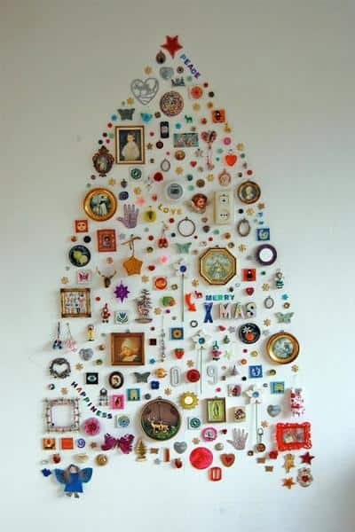 Christmas Collage Wall Tree
