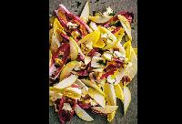 CinCin's Salad of Two Endives recipe—Gorgonzola, walnuts and pears—walnut vinaigrette